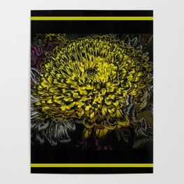 Black yellow art Poster