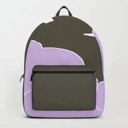 Crescent moon and clouds V16 Backpack