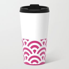Rainbow Trim Bright Pink Gum Travel Mug