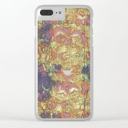Mineral Map - Abstract Art Clear iPhone Case
