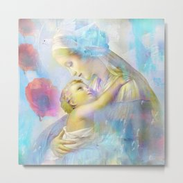 In the Arms of Mary Metal Print