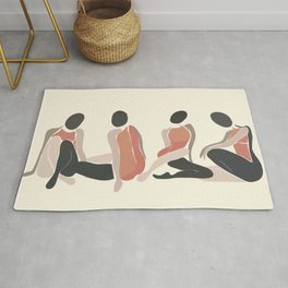 Woman Forms Rug