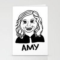 amy poehler Stationery Cards featuring Amy Poehler by Flash Goat Industries