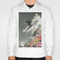 skiing Hoodies featuring Spring Skiing by Sarah Eisenlohr