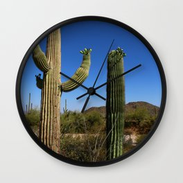 In The Sonoran Desert Wall Clock