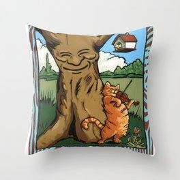 Fat Rascal Throw Pillow