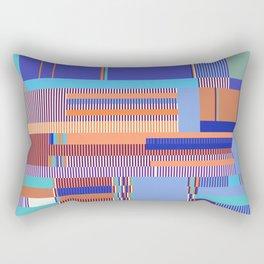 Scandinavian Moon (Blue Salmon Colours) Rectangular Pillow
