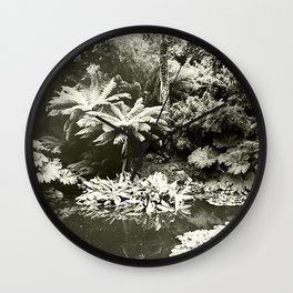 The Lost Gardens of Heligan in Black and White Wall Clock