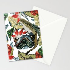 Tropical Pug Stationery Cards