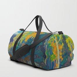 Canadian Landscape Franklin Carmichael Art Nouveau Post-Impressionism Autumn Hillside Duffle Bag