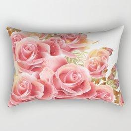 Artistic Pink Roses Rectangular Pillow