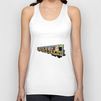 subway Tank Tops featuring subway art by design lunatic