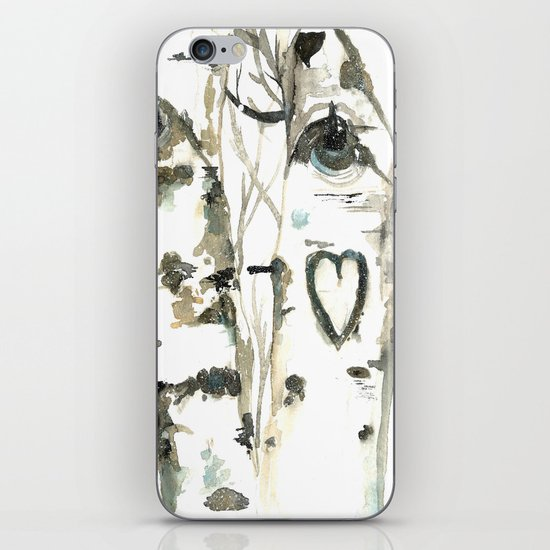 Winter Romance Birch Forest  iPhone & iPod Skin