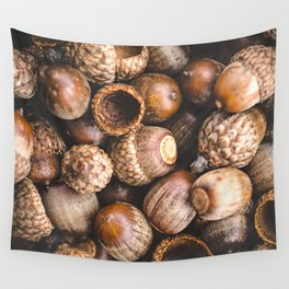 Squirrel Harvest Wall Tapestry