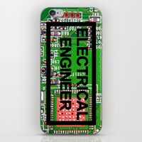 engineer iPhone & iPod Skins featuring Electrical Engineer by EEShirts