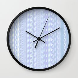 Cool Patterns Light In Shades Of Blue and Purple Wall Clock