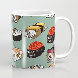 Sushi English Bulldog Coffee Mug