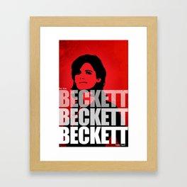 Beckett Beckett Beckett Framed Art Print