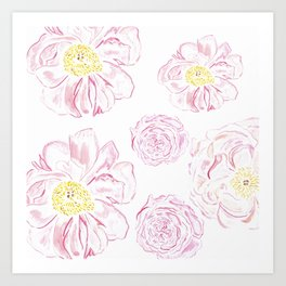 Abstract Flowers #society6 #buyart Art Print