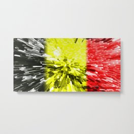 Flag of Belgium Metal Print