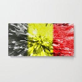 Flag of Belgium Metal Print