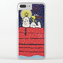 SNOOPY CHRISTMAS HOUSE Clear iPhone Case