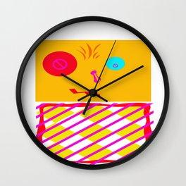 Mustard Dachi Wall Clock