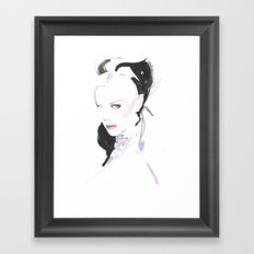 Fashion illustration in watercolors and ink Framed Art Print