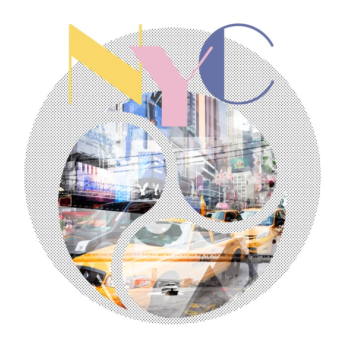 TRENDY DESIGN New York City | Geometric Mix No 1 Duvet Cover