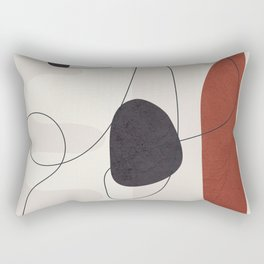 Abstract Minimal Shapes 27 Rectangular Pillow