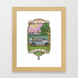 Live In A Van Down By The River (Colored) Framed Art Print
