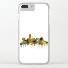 Dallas, Texas Skyline SG - Safari Buff Clear iPhone Case