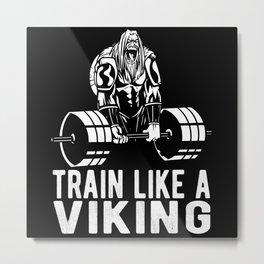 Viking Bodybuilder Metal Print