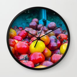 Heirloom Tomatoes V. 2.0 Wall Clock