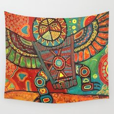 Shaman Dance: Day and Night Wall Tapestry
