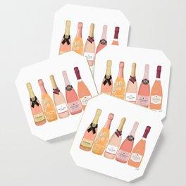 Rose Champagne Bottles Coaster