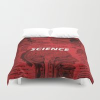 science Duvet Covers featuring Science by dreamshade