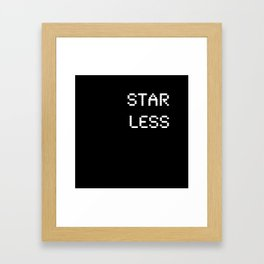 Starless (BLCK #9) Framed Art Print