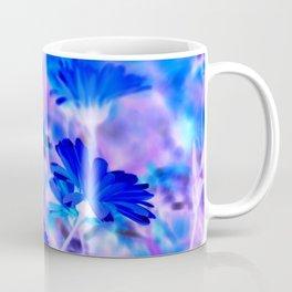 Blue Marigold Gypsy Boho Fantasy Garden Coffee Mug