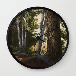 Woodland Light Wall Clock