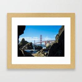 Golden Gate Bridge from Baker Beach Framed Art Print