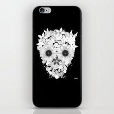 Skull Flowers white iPhone & iPod Skin