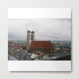 Rainy day in Munich Metal Print