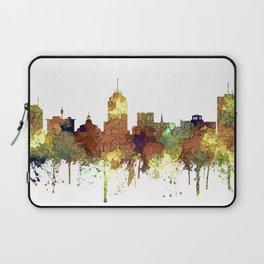 Fresno, California Skyline SG - Safari Buff Laptop Sleeve