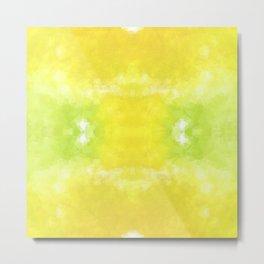 """Lemon jello"" triangles design Metal Print"