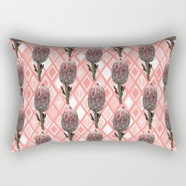 Protea Floral Print - Australian Native Flowers Rectangular Pillow