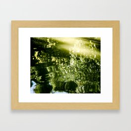 Reflecting Greens Framed Art Print