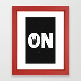 Rock On Framed Art Print