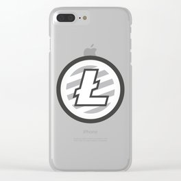 Litecoin Logo Clear iPhone Case