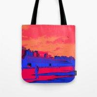 kieren walker Tote Bags featuring JAPAN WALKER  by RUEI